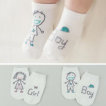 Zokni fiú, lány senteces - aranyos rajzfilm zokni, csúszásmentes puha pamut
