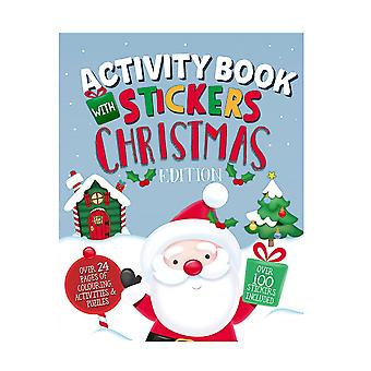 A4 Size Christmas Edition Children's Activity Book With Stickers