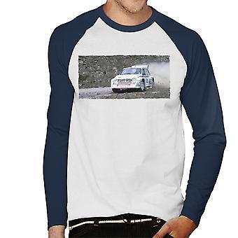 MG Metro 6R4 Drifting British Motor Heritage Men's Baseball Long Sleeved T-Shirt