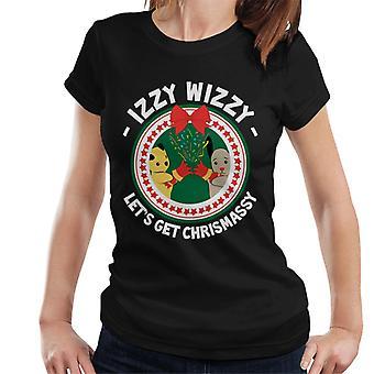 Noki joulu Izzy Wizzy Lets Get Chrismassy Women's T-paita