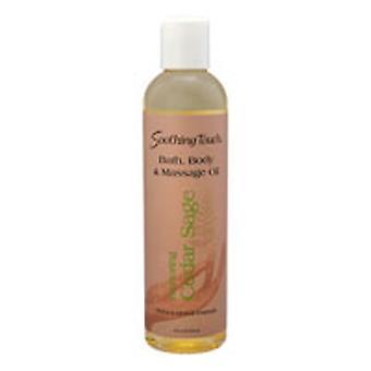 Soothing Touch Bath & Body Massage Oil, Cedar Sage 8 oz