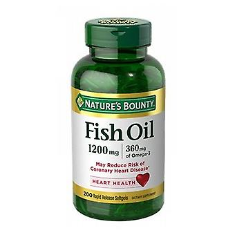 Nature's Bounty Fish Oil, 1200 mg, 6 X (200 Softgels + 200 Softgels)