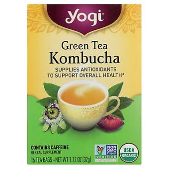 Yogi Yogi Tea Kombucha Green Tea, 16 bags