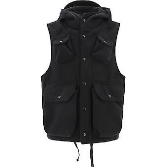 Engineered Garments 20f1c004dz014 Men's Black Polyester Vest