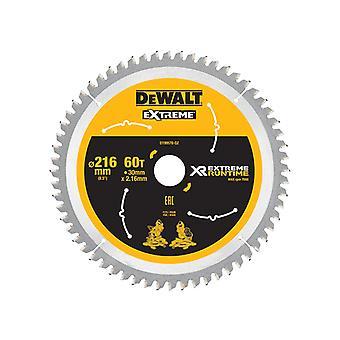 DEWALT FlexVolt XR Circular Saw Blade 216mm x 30mm 60T DEWDT99570QZ