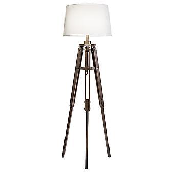 Modern Home Mariner Nautical Wooden Tripod Floor Lamp - Ocean Theme/Beach House Bungalow Decor