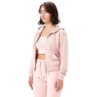 Juicy Couture Robertson Velour Zip sudadera con capucha rosa 64