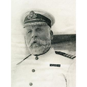 Captain Edward John Smith Rd Rnr January 27 1850 To April 15 1912 Captain Of Rms Titanic Who Went Down With The Ship PosterPrint