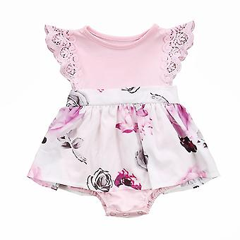 Family Sister Floral Matching Clothing, Baby Lace Floral Romper & Dress Clothes