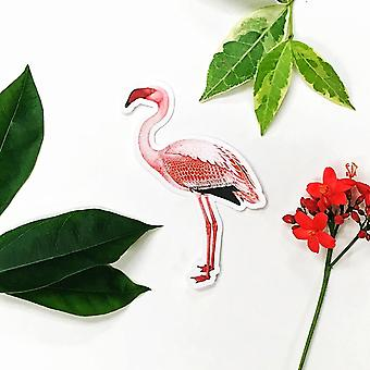 Flamingo Vinyl Sticker - Antique Image