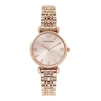 Armani Ar11059 Ruusukulta Ruostumaton Teräs Naisten Watch