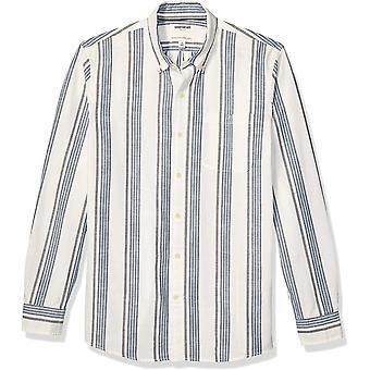 Marke - Goodthreads Men's Standard-Fit Langarm Chambray Shirt, Whi...