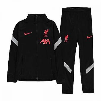 2020-2021 Liverpool CL Strike tepláková souprava (černá) Děti
