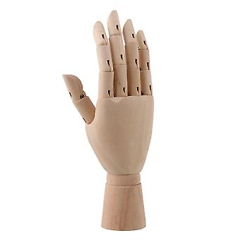 8Inch Body Model Jointed Manikin Mannequin Solid Wooden Right Hand for Art Drawing