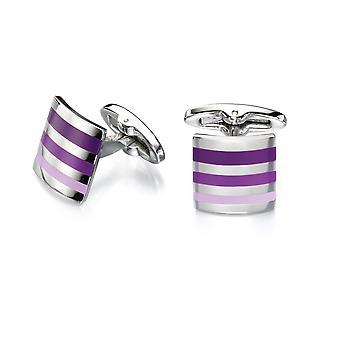 Fred Bennett Purple Shades Stripe CuffLink För Män