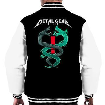 Metal Gear Solid Solid och flytande ormar Män's Varsity Jacket