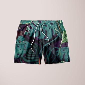 Tropical leaves shorts