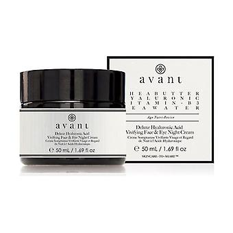 Night Cream Face and Eyes with Hyaluronic Acid Deluxe 50 ml of cream