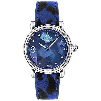 GV2 Ravenne Women's MOP Dial Rose Gold Case Calfskin Leather Watch