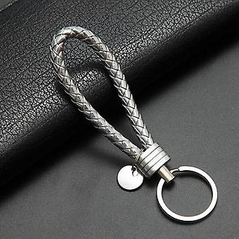 Car Key Chain For Motorcycles Scooters And Cars Key Fobs Leather Rope Key Ring