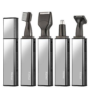 Rechargeable Nose Trimmer, Beard, Eyebrow, Nose, Hair And Ear Shaver Machine