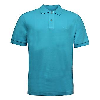 Fila Mens Short Sleeve Polo Top T-Shirt Casual Tee Blue U87122 487 RW97