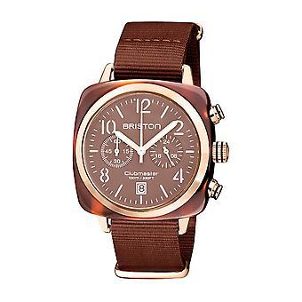 Briston 20140.PRA.T.37.NTCH Clubmaster Classic Terracotta Acetate Wristwatch Brown