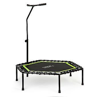 Trambulină fitness - Jumping Fitness - 122x122x28 cm - negru/verde