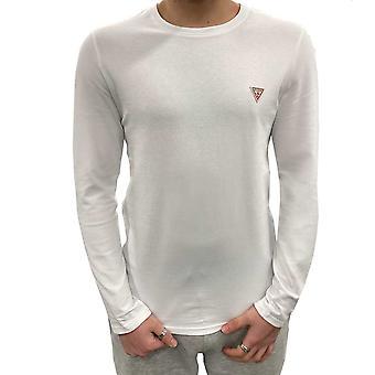 Guess L/S Super Slim T-Shirt - Bianco