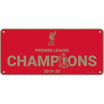 Placa dos Campeões da Premier League liverpool FC 2019-20