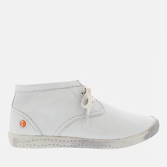 Indira white smooth leather