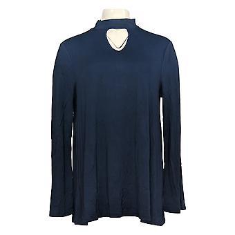 Laurie Felt Women's Top Knit W/ Gargantilla Escote Detalle Tinta A301697