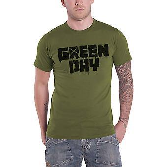 Green Day T Shirt Logo 21st Century Breakdown Band Logo new Official Mens Green