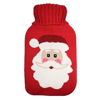 Trixes Rojo Santa Cubierta para Botella de Agua Caliente Botella de Navidad Botella de Navidad Botella no Incluida