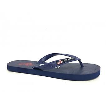 Slippers Us Polo Donkerblauw Mod Barclay Rubber Us16up34