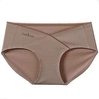 50s Soft Breathable Silk Cotton Maternity Panties Low Waist Seamless Underwear