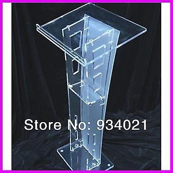 Skrå Top Moderne Akryl Lectern Podium Prædikestol Gratis Forsendelse Plexiglas