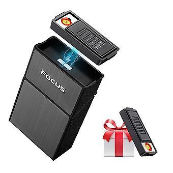 Portable Cigarette Case With Lighter 20pcs Cigarette Holder Waterproof