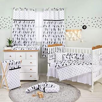 مجموعة الفراش سرير الطفل الريش الأسود