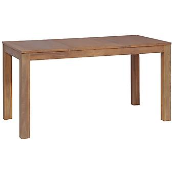 Dining Table Solid Teak Wood With Natural Finish 140x70x76 Cm