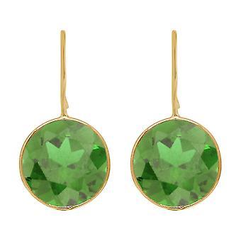 Gemshine earrings green peridot gemstones in 925 silver, gold plated or rose