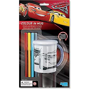 4M D406208 Disney Cars Colour in Mug