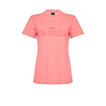 Pinko Neutrale Pink T-shirt With Lettering