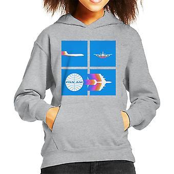 Pan Am Takeoff Silhouette Kid's Hooded Sweatshirt