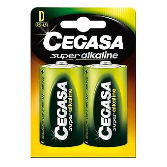 Baterias alcalinas Cegasa LR20 D 1,5V (2 uds)