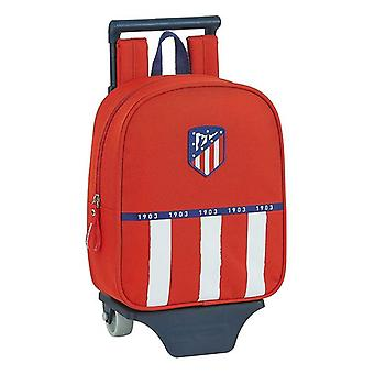 School Rucksack with Wheels 805 Atlético Madrid 20/21 Blue White Red