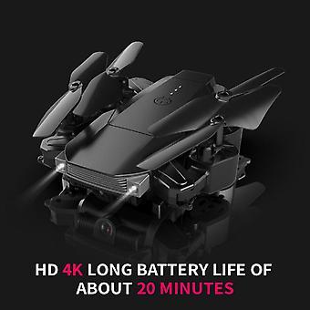 K2 ny hopfällbar drone 4k med hd kamera professionell flygfotografering 1080p dubbel kamera quadcopter fpv flygplan svartblå