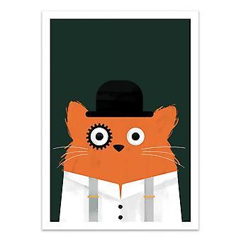 Art-Poster - Cat Clockwork - Doozal