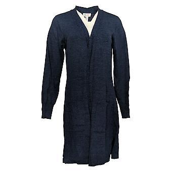 Denim & Co. Women's Sweater Open-Front Blue A381047