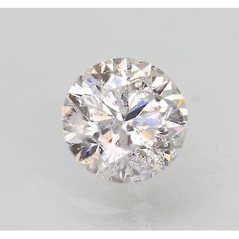 Certified 0.61 Carat E SI2 Round Brilliant Enhanced Natural Loose Diamond 5.3mm